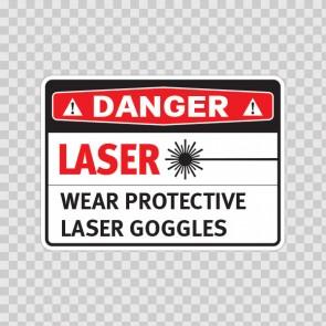 Danger Laser Wear Protective Laser Goggles  19468