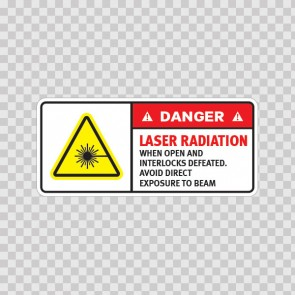 Danger Laser Radiation When Open And Interlocks Defeated. Avoid Direct Exposure To Beam.. 19474