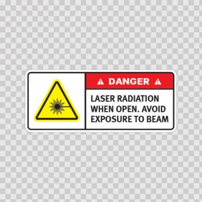 Danger Laser Radiation When Open. Avoid Exposure To Beam. 19477