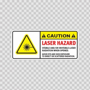 Caution Laser Hazard. Visible And/Or Invisible Laser Radiation When Opened.. Avoid Eye And Skin Exposure To Direct Or Scattered Radiation. 19479
