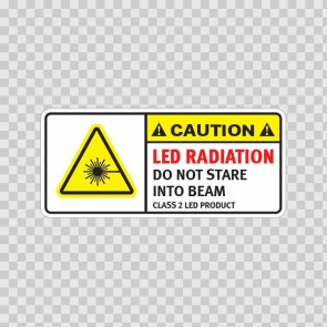 Caution Led Radiation. Do Not Stare Into Beam. Class 2 Led Product. 19481