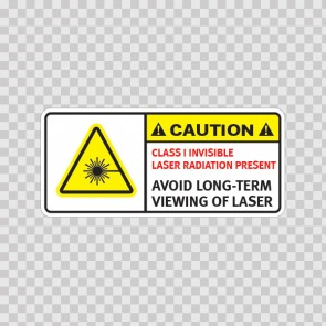 Caution Class I Invisible Laser Radiation Present. Avoid Long-Term Viewing Of Laser.  19482