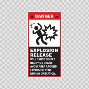 Danger Explosion Release Will Cause Severe Injury Or Death. Avoid Area Around Explosion Vent During Operation. 19564