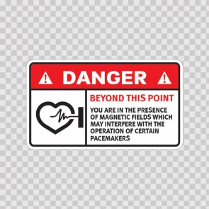 Danger Beyond This Point: You Are In The Presence Of Magnetic Fields Which May Interfere With The Operation Of Certain Pacemakers 19602