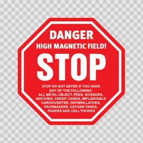 Danger High Magnetic Field! Stop.. 19608