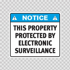 Notice This Property Protected By Electronic Surveillance  19651