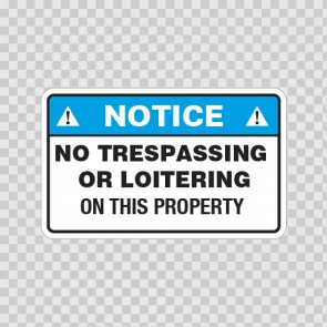 Notice No Trespassing Or Loitering On This Property  19661
