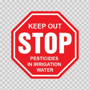 Stop Keep Out Pesticides In Irrigation Water 19671