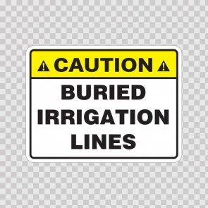 Caution Buried Irrigation Lines 19679