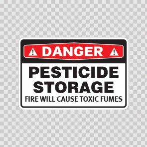 Danger Pesticide Storage Fire Will Cause Toxic Fumes 19683