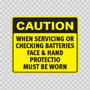 Caution When Servicing Or Checking Batteries Face & Hand Protection.. 19757