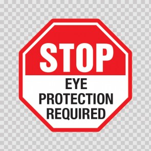 Stop Eye Protection Required  19793