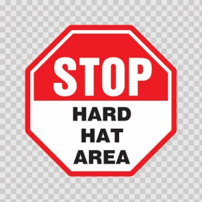 Stop Hard Hat Area  19837