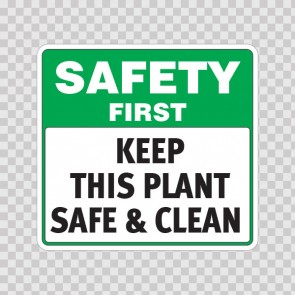 Safety First Keep This Plant Safe & Clean  19933