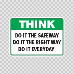 Think Do It The Safeway Do It The Right Way Do It Everyday  19941