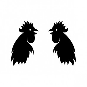 Pair Of Roosters 21130