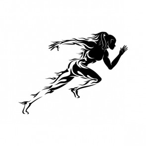 Athetic Woman Running Tribal 21239