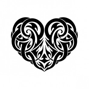 Tribal Heart Tattoo Style 21245