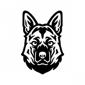 German Shepherd Dog Head 21378