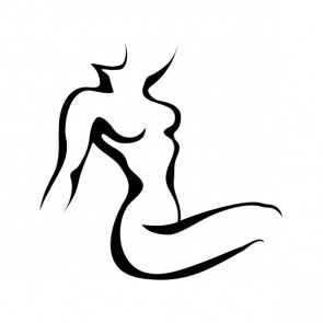Naked Female Body Minimal Line Art 21461