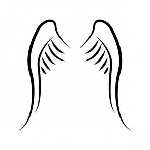 Pair Of Wings Minimal Lineart 21472