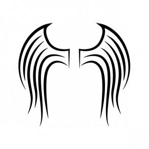 Pair Of Wings Minimal Lineart 21473