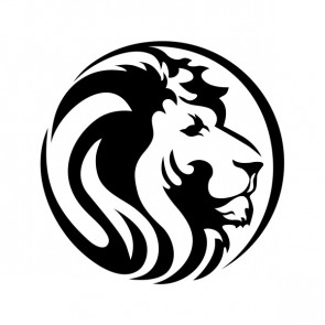 Wild Lion Head In Circle 21588