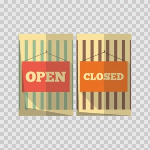 Open Closed Store Sign 21724