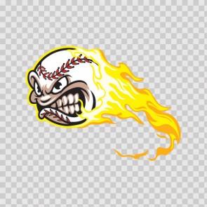 Flaming Baseball 21809