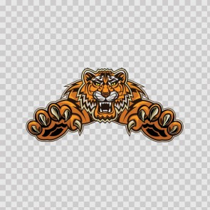 Tiger Attack Tattoo Style 22215