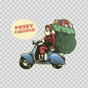 Merry Christmas Santa Claus Scooter Rider 22268