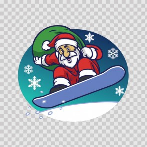 Snowboard Santa Claus With Presents 22269