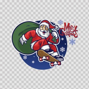 Skateboard Christmas Santa Claus 22270