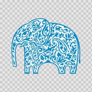 Tribal Floral Elephant Feng Shui Good Luck 22317