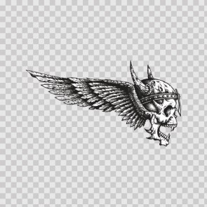 Skull With Wings 22375