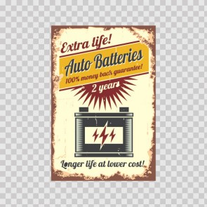 Auto Batteries Extra 2 Years Life Low Cost 22474