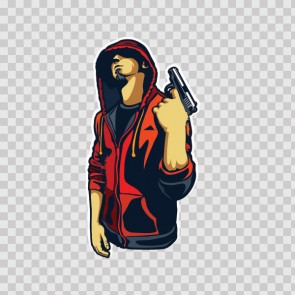 Outlaw Hoody Youngster With Gun 22478