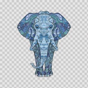 Colorful Ethnic Style Elephant Feng Shui 22532