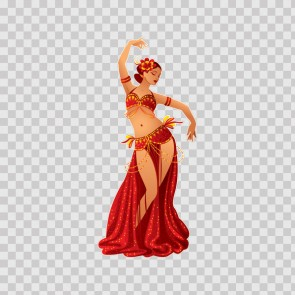 Oriental Female Belly Dancer  22545