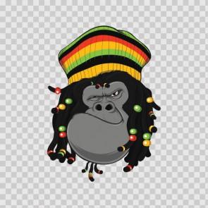 Rasta Gorilla Ape Reggae 22568