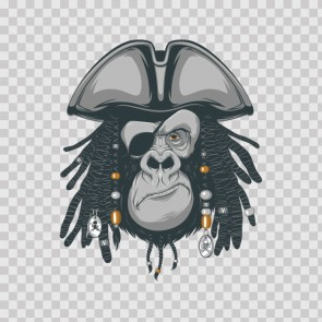 Pirate Rasta Gorilla Head 22569
