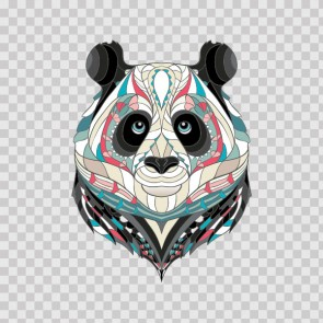 Ethinic African Style Ornamented Panda Head 22591