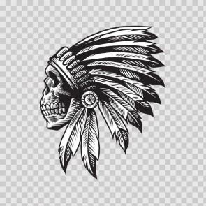 American Native Chief Skull 22622