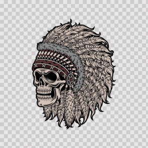 High Detail Native American Skull Chief 22661