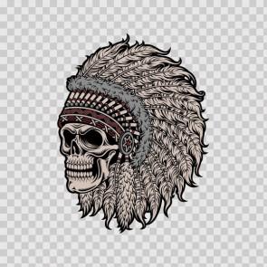 High Detail Native American Skull Chief 22661