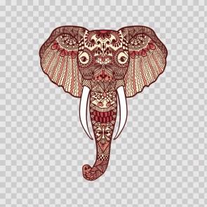 Ethnic Pattern Elephant Head Feng Shui Good Luck 22710