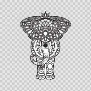 Ethnic Pattern Elephant Head Feng Shui Good Luck 22739