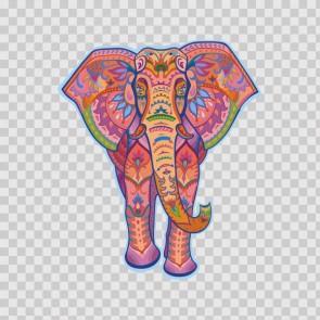 Ethnic Pattern Elephant Head Feng Shui Good Luck 22782