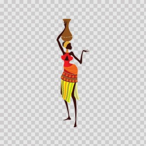 African Traditional Woman Carrying Vessel 22854