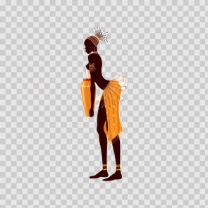 African Traditional Woman Carrying Vessel 22871